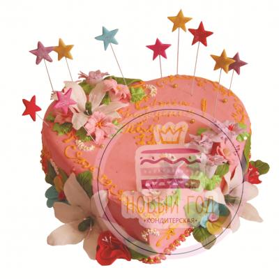 Торт-сердце «Вечеринка»
