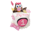 Торт с совой на 1 год
