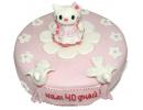 Торт «Рождение 3» с Хеллоу Китти