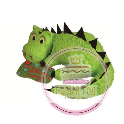 Торт в виде динозавра