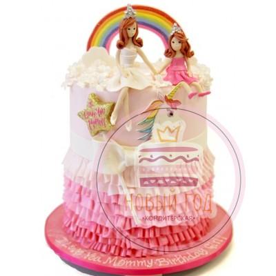 Торт «Радужный единорог»