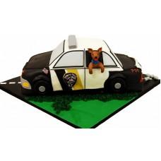 Торт в виде полицейской машины