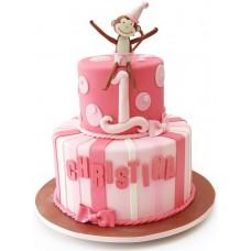 Торт с обезьянкой на 1 год