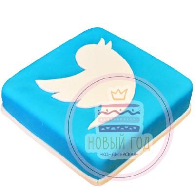 Торт с логотипом «Twitter»