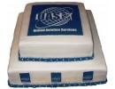 Торт с логотипом компании «UAS»