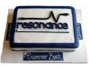 Торт с логотипом компании «Resonance»