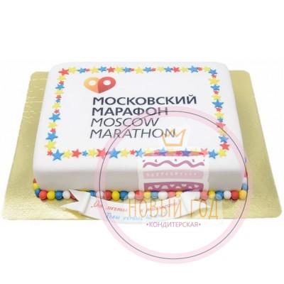 Торт с логотипом Московского марафона