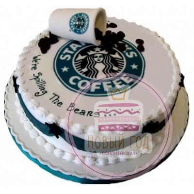 Торт с логотипом «Starbucks»