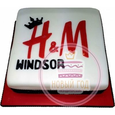 Торт с логотипом «H&M»