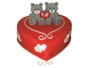 Торт-сердце «Любящие медвежата»