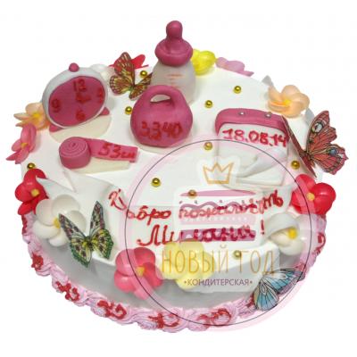 Торт «С рождением»