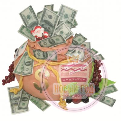 Торт «Мешок с деньгами»