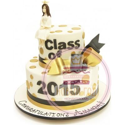 Торт с выпускницей и бантом