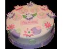 Торт на рождение с лилиями