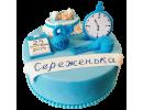 Торт с метрикой для мальчика