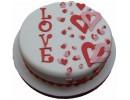 Торт с сердцами на 14 февраля