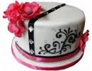 Торт в виде шляпы с маками