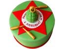 Торт с гранатой и патронами
