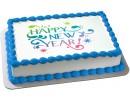 Торт с новогодним поздравлением