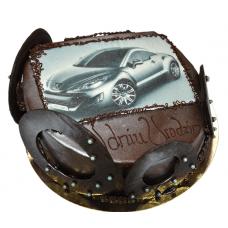 Шоколадный торт с авто