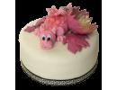 Торт с розовым дракончиком