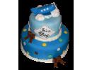 Торт в виде самолета на облаках