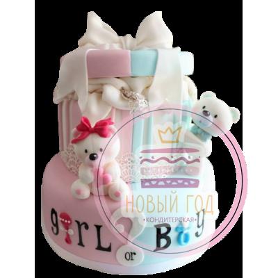 Торт «Мальчик или девочка?»