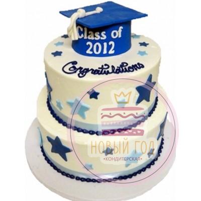 Торт с шапкой выпускника
