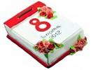 Торт на 8 марта «Лист календаря»