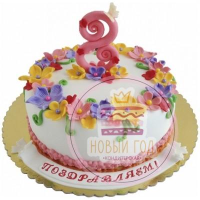 Торт с цифрой 8