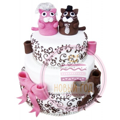 Торт с фигурками котов