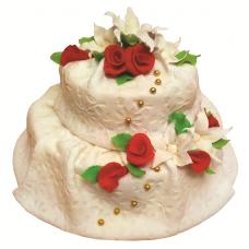 Торт из мастики в виде струящейся ткани