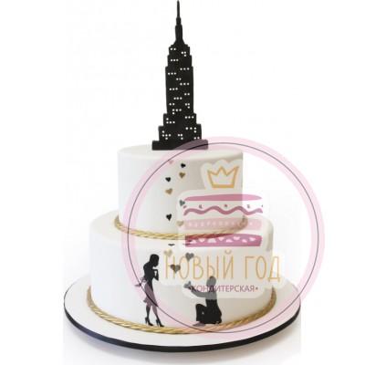 Свадебный торт «Нью-Йорк»