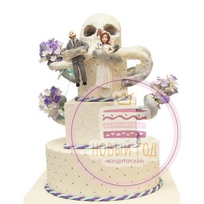 Торт с молодожёнами «Осьминог»
