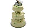 Торт с женихом и невестой на мотоцикле