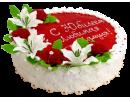 Кремовый торт на юбилей женщине