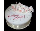 Юбилейный торт с орхидеями