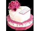 Торт-сердце на юбилей для женщины