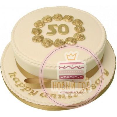 Торт в виде шляпы с золотыми розами