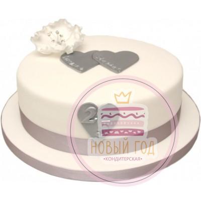 Торт в виде шляпы на 25 лет