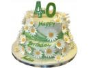 Торт на 40 лет с ромашками