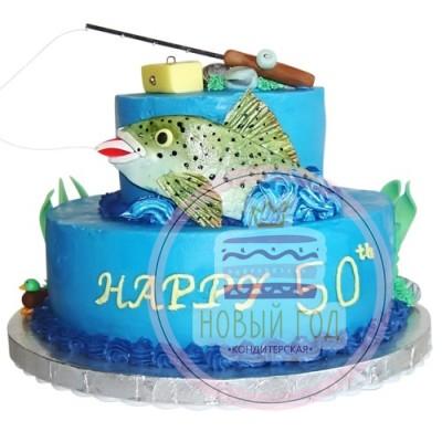Кремовый торт для рыбака