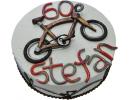 Торт с велосипедом на 60 лет
