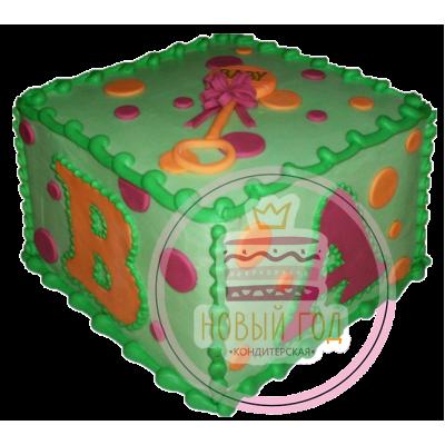 Торт в виде кубика