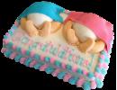 Торт на рождение близнецов
